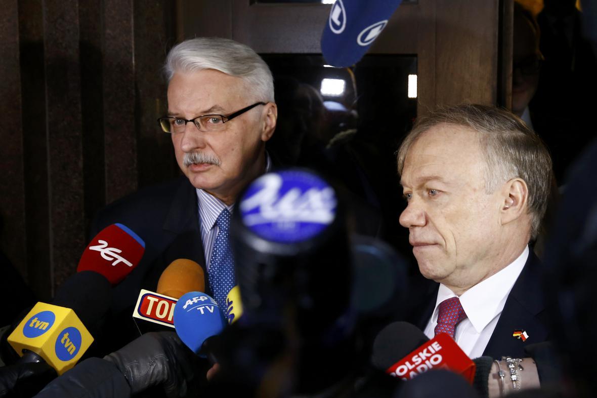 Witold Waszczykowski a Rolf Nikel