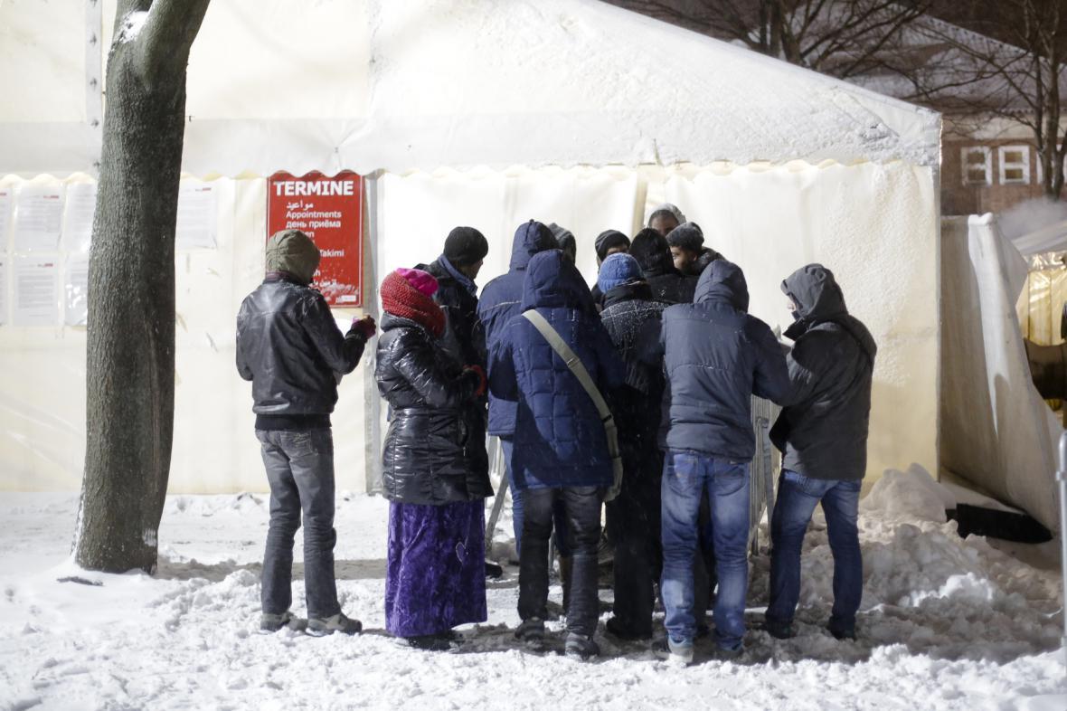 Skupina migrantů v Německu