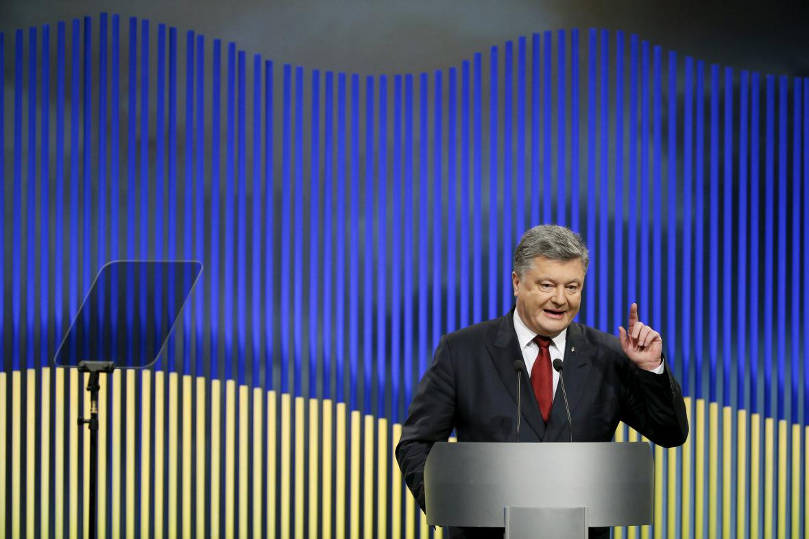 Porošenko na brífinku představil letošní ukrajinské priority