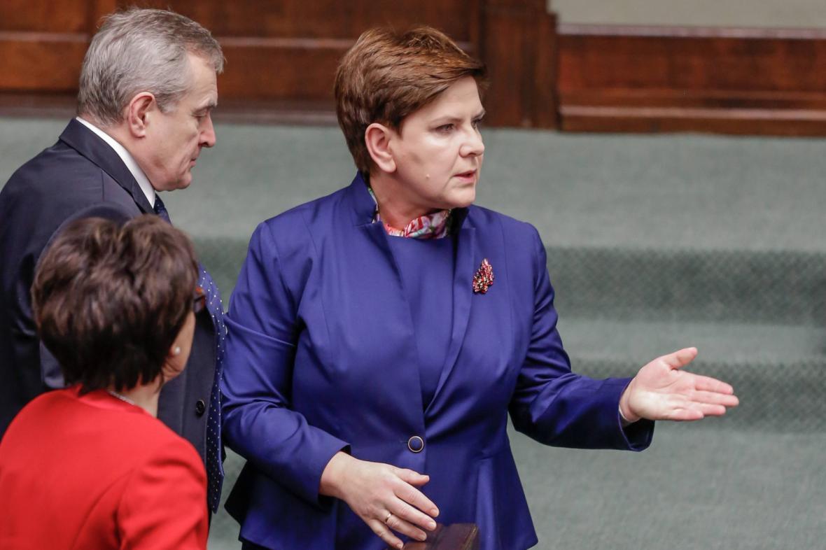 Premiérka Beata Szydlová