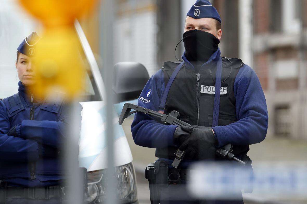 Policejní zásah v belgickém Verviers