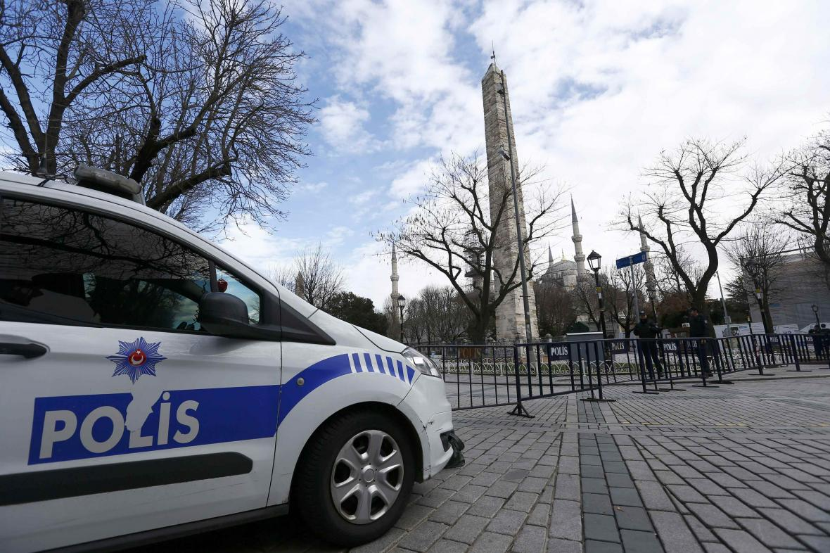 Turecká policejní hlídka
