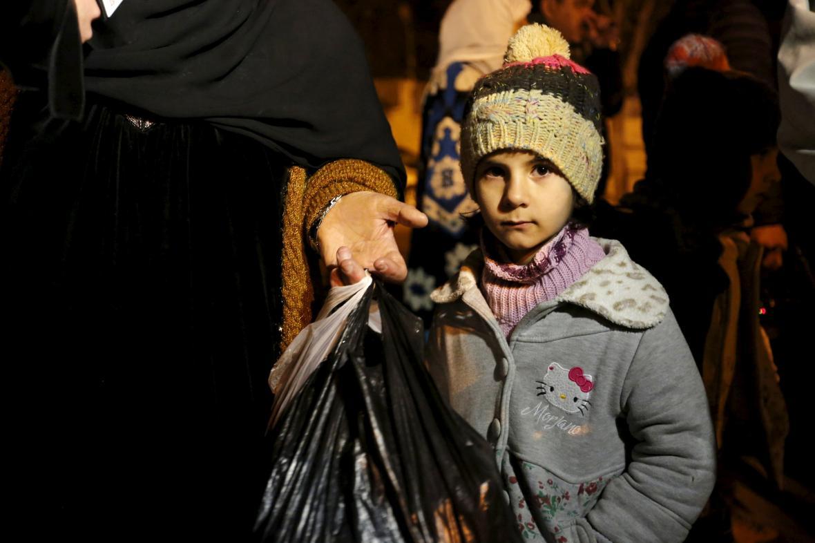 Dítě ze syrského města Madájá