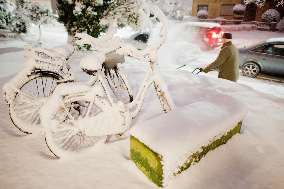 Sněhová kalamita v dolnosaském Sehnde