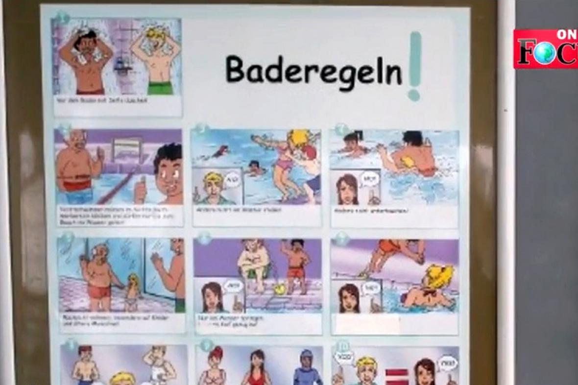 Návod pro migranty, jak se chovat na koupališti