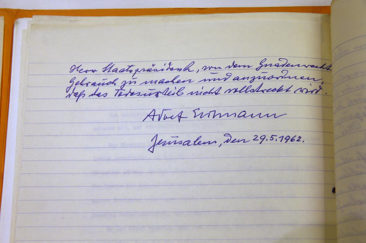 Eichmanův dopis izraelskému prezidentovi