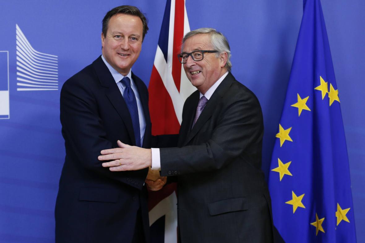 David Cameron a Jean-Claude Juncker