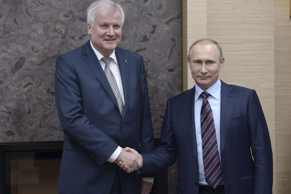 Horst Seehofer a Vladimir Putin