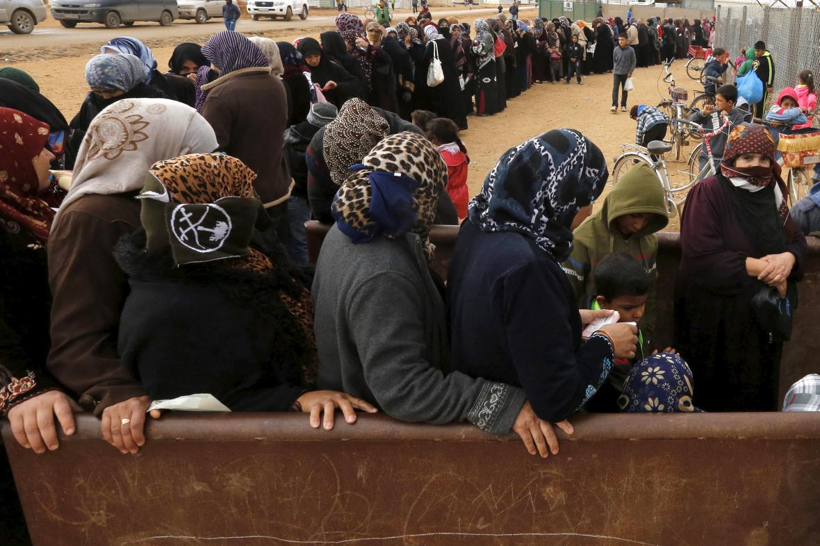 Syrští uprchlíci v Jordánsku