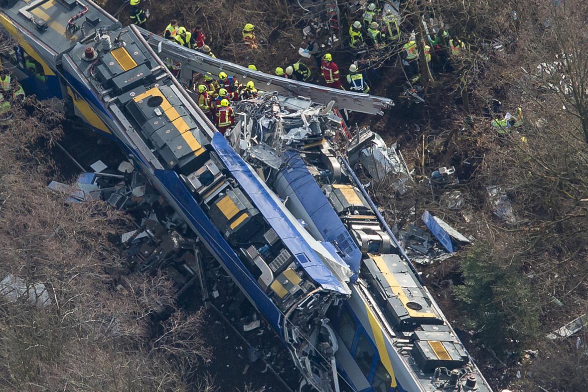 Srážka vlaků u bavorského Bad Aiblingu