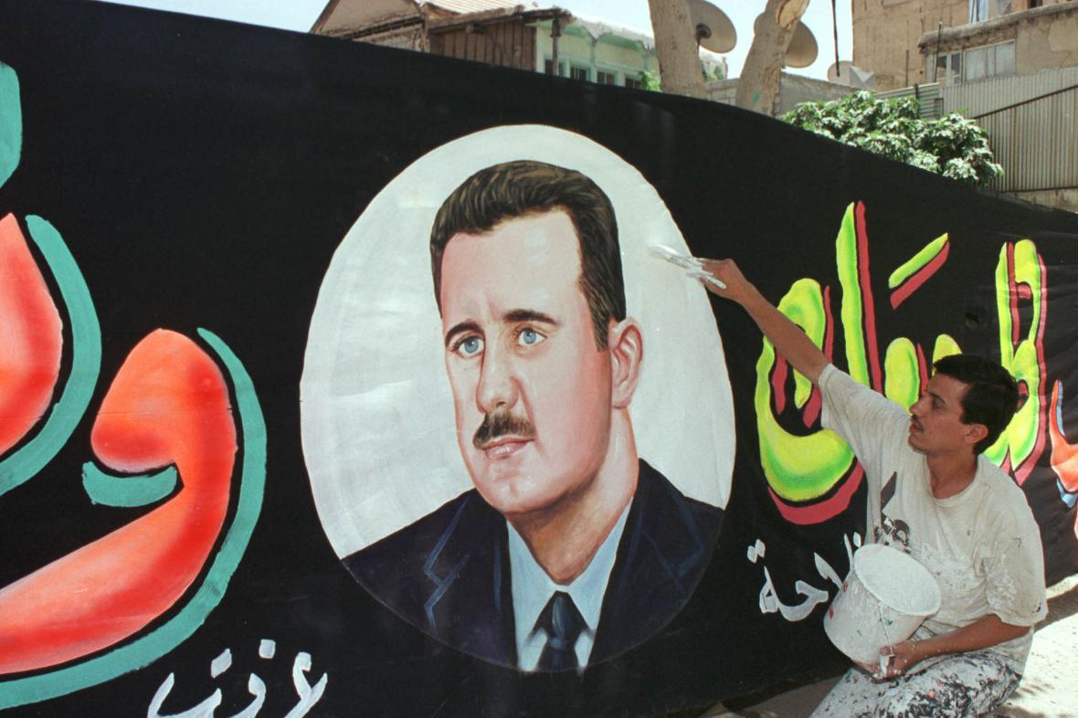 Kampaň před syrskými prezidentskými volbami v roce 2000