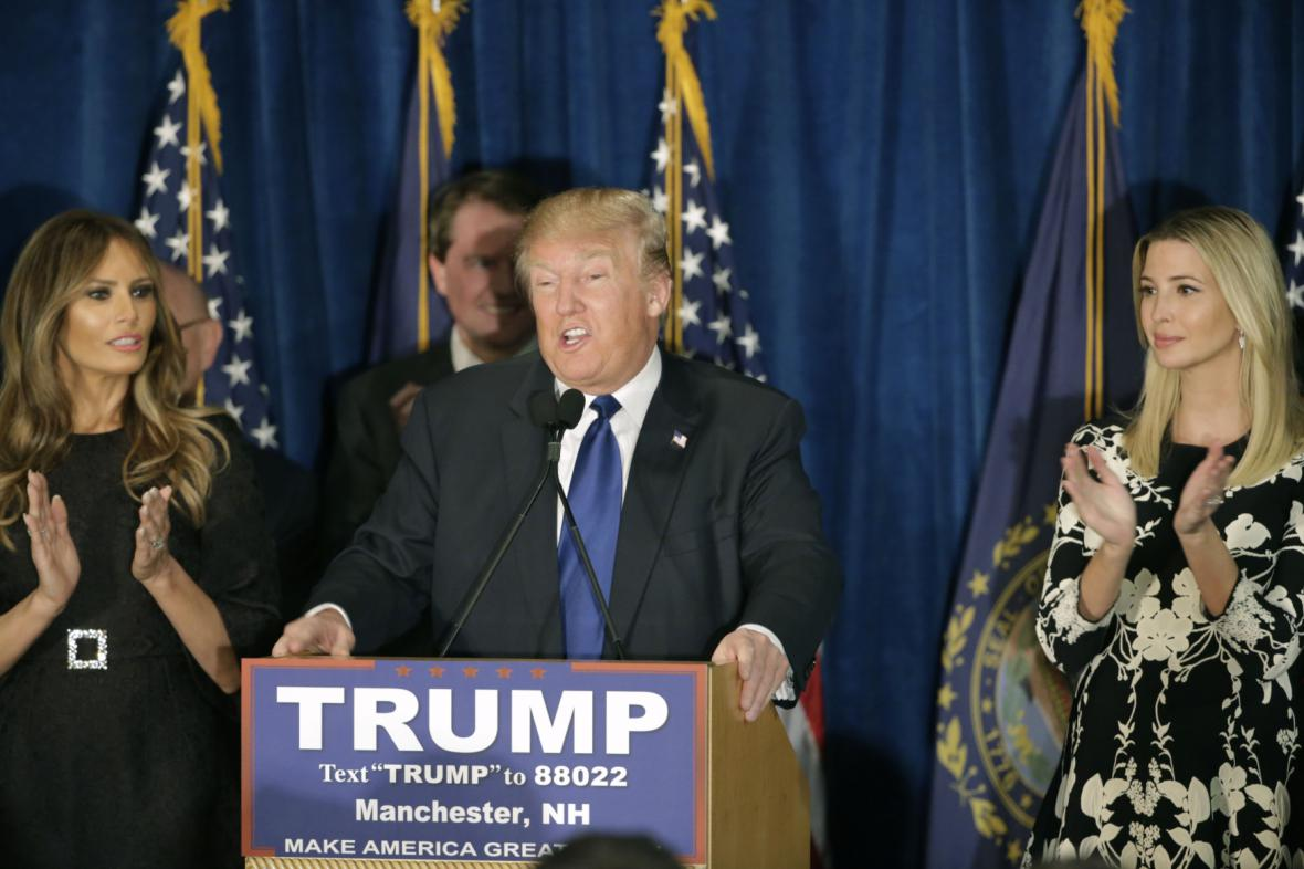 Republikánský kandidát Donald Trump