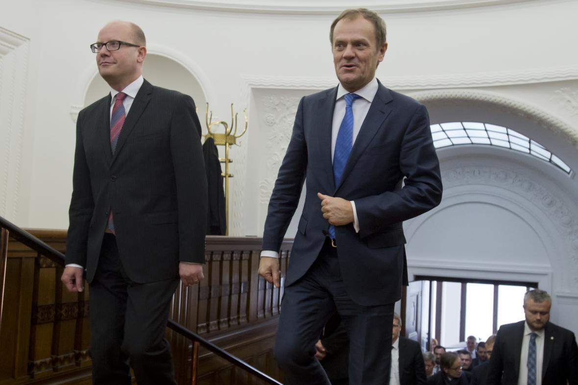 Bohuslav Sobotka a Donald Tusk