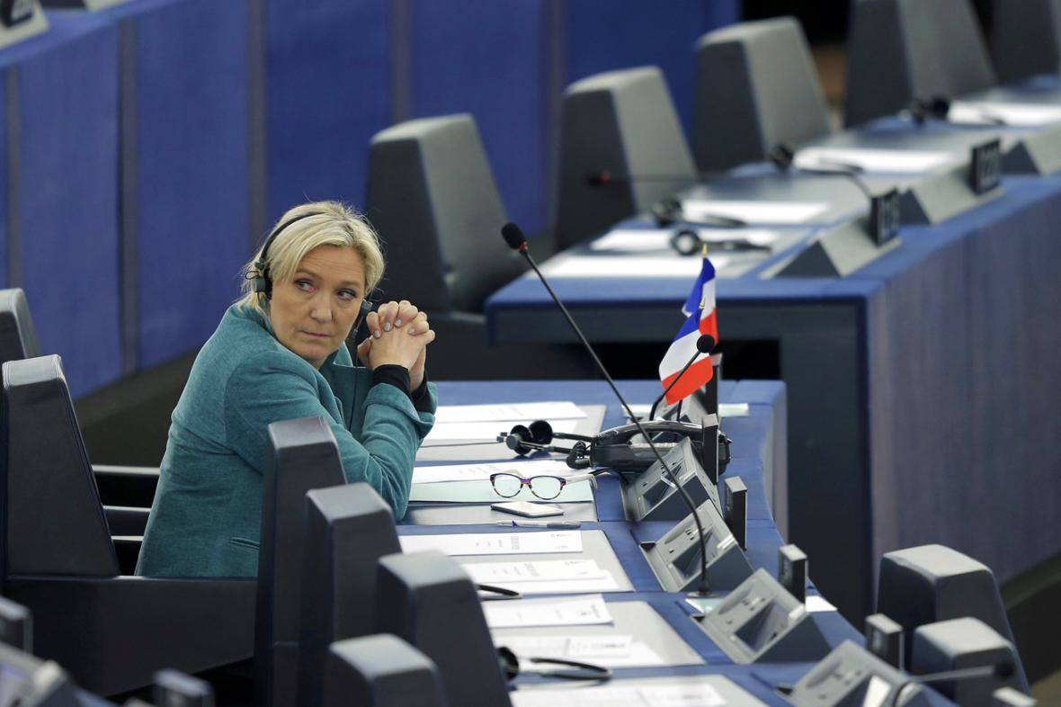 Marine Le Penová v europarlamentu ve Štrasburku