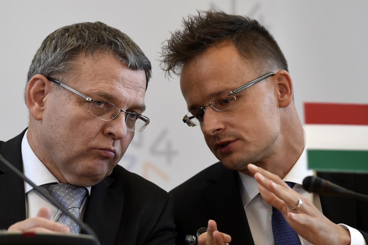 Lubomír Zaorálek a Péter Szijjártó