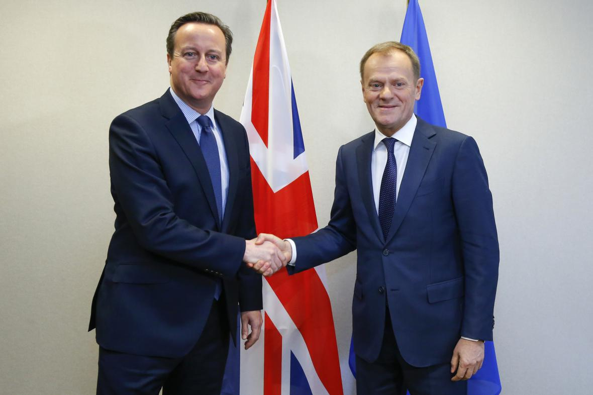 David Cameron a Donald Tusk