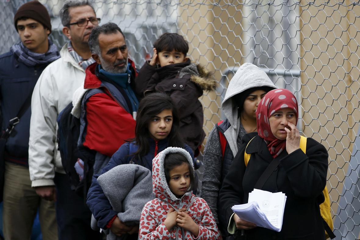 Migranti na slovinsko-rakouských hranicích
