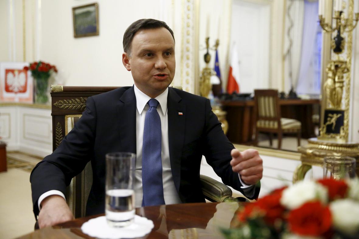 Andrzej Duda v rozhovoru s agenturou Reuters