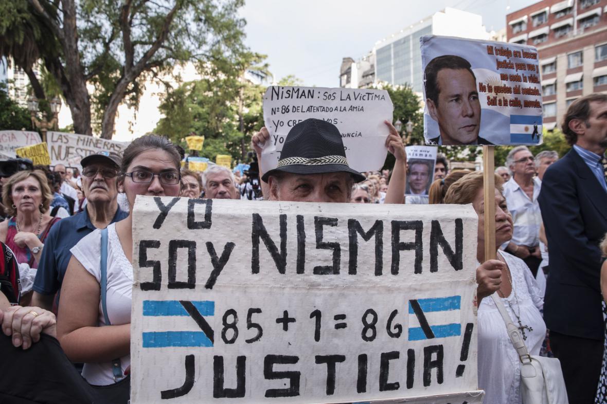 Argentinci žádají spravedlnost