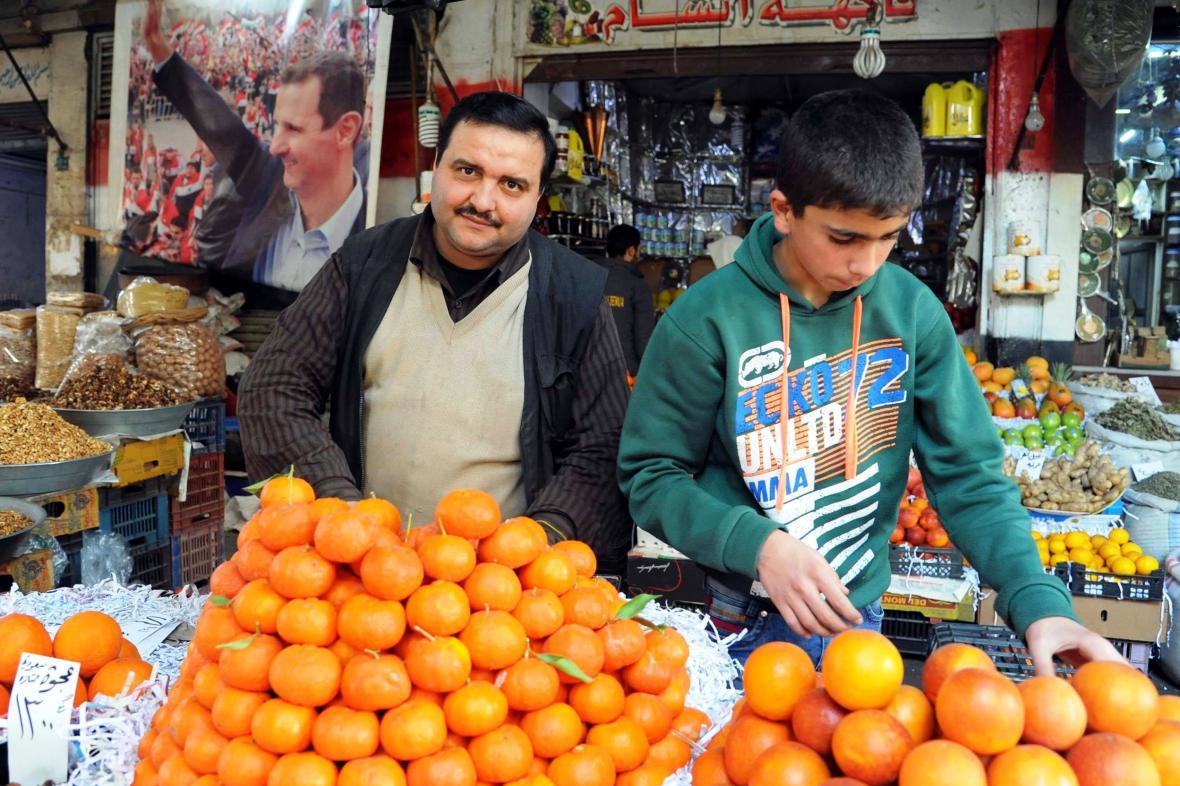 Během příměří se do ulic Damašku vrátili trhovci