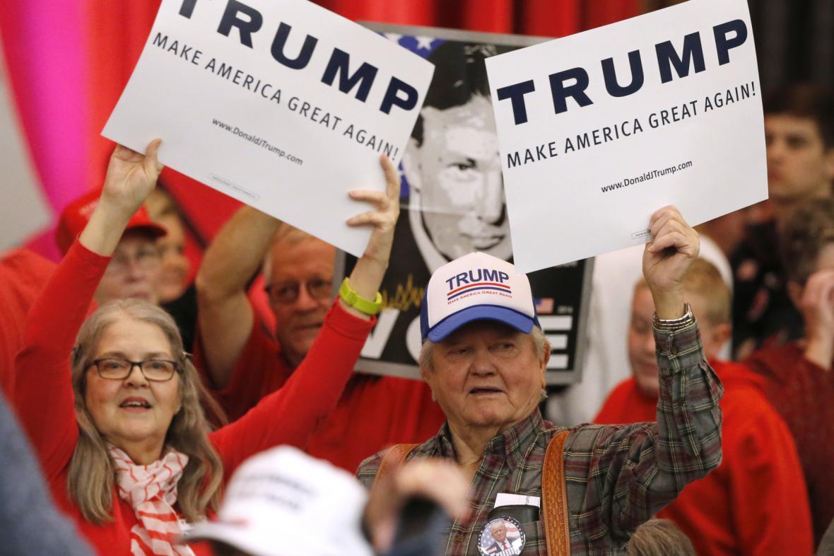 Příznivci republikánského kandidáta Donalda Trumpa