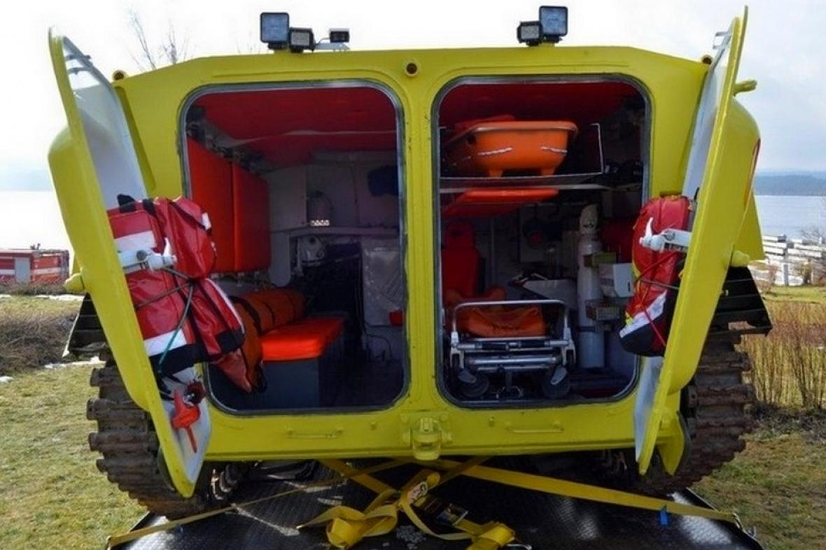 Obojživelná sanitka řevnických záchranářů