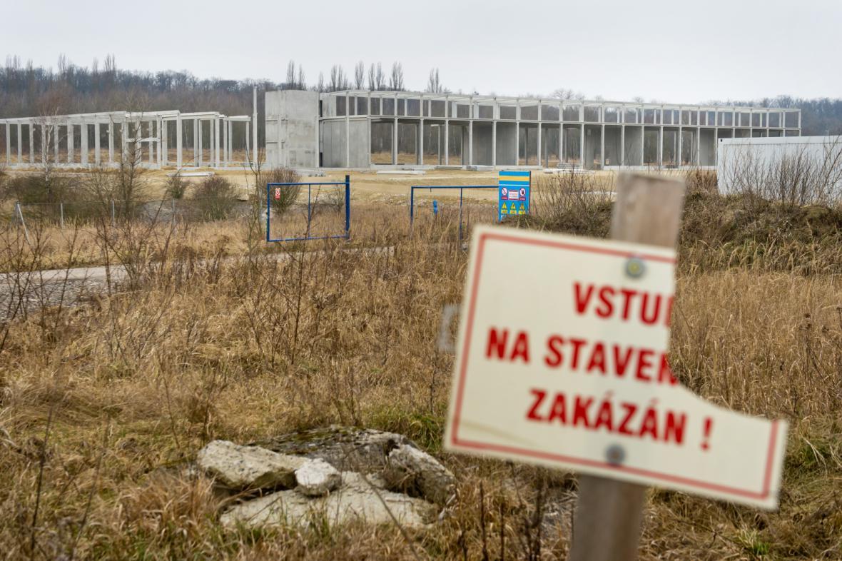 Stavba výzkumného parku v Milovicích
