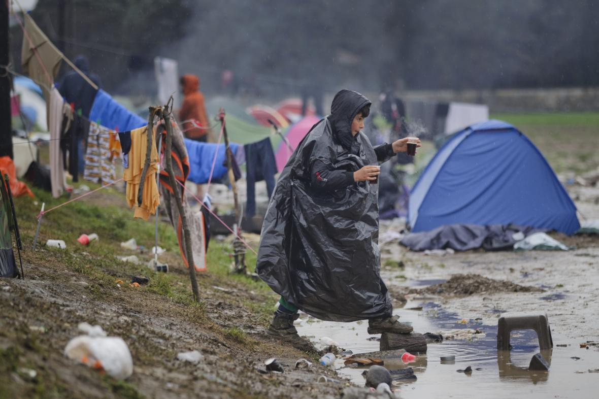 Běženecký tábor u Idomeni