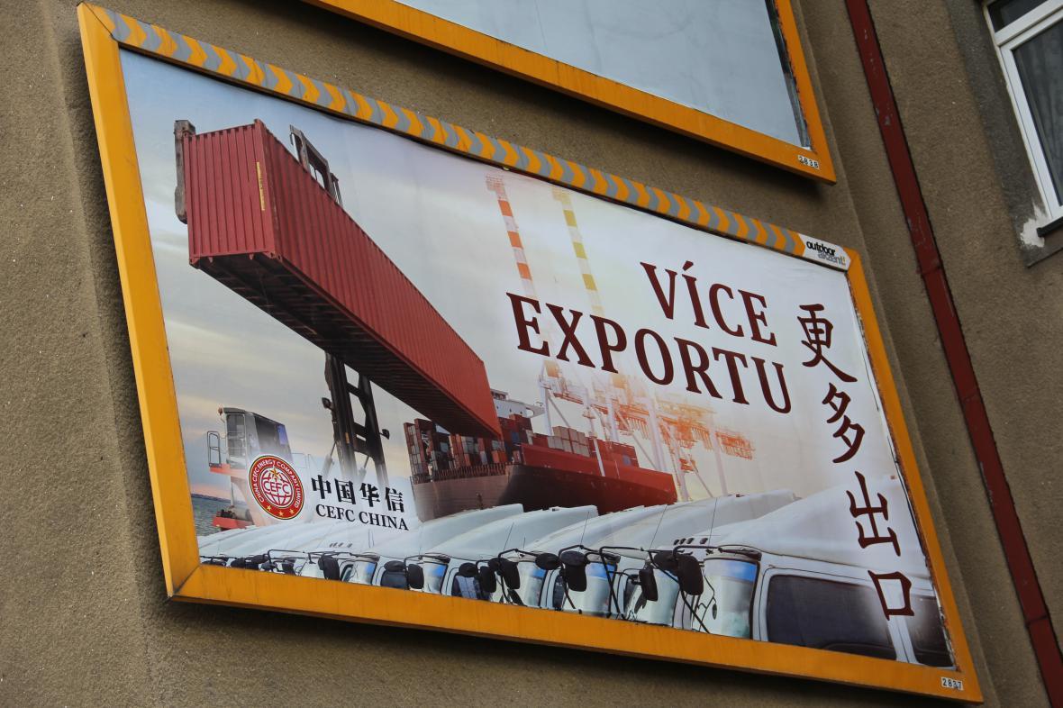 Billboard čínské společnosti CEFC
