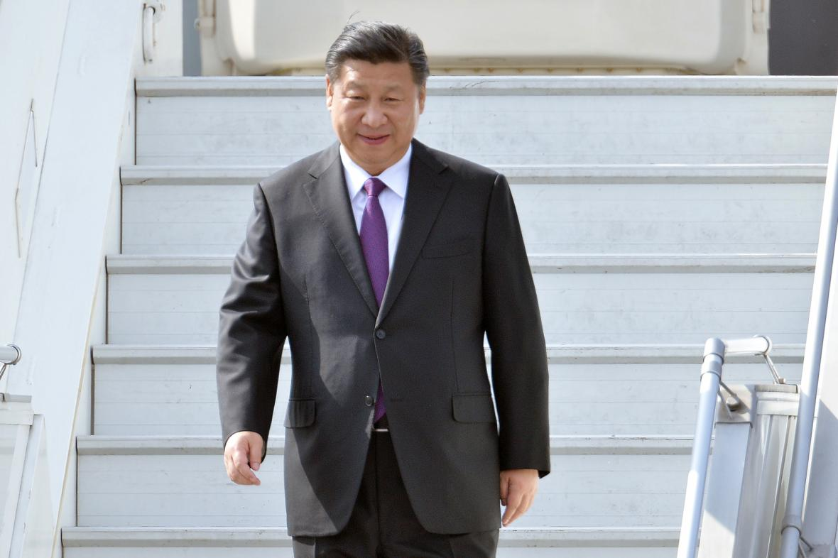 Čínský prezident Si Ťin-pching v Praze