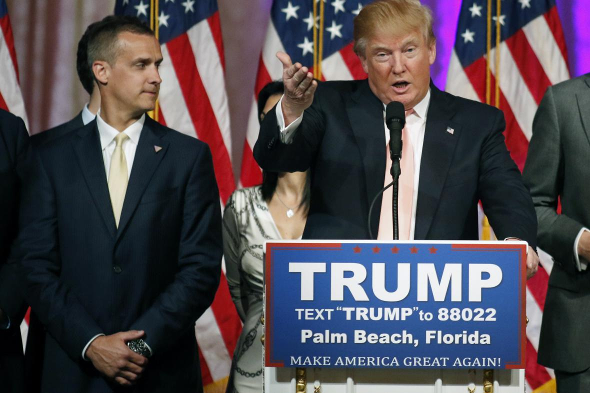 Corey Lewandowski s Donaldem Trumpem