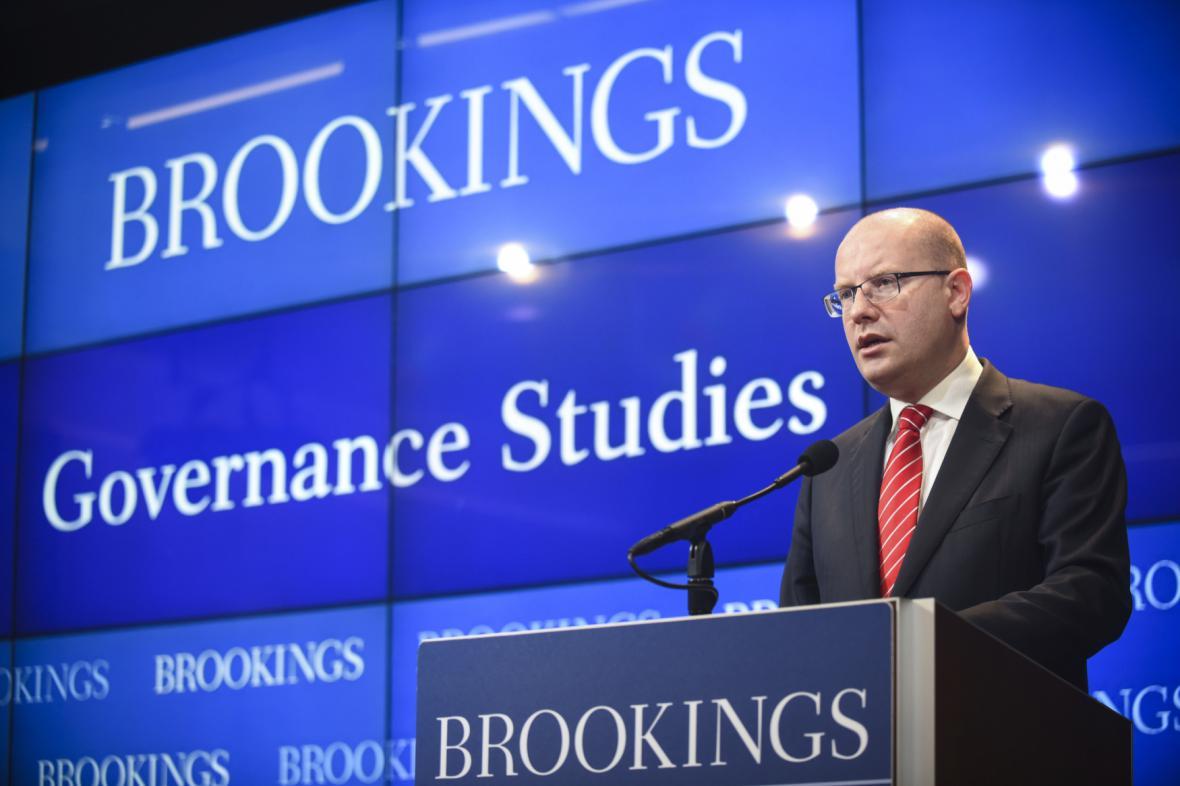 Premiér Bohuslav Sobotka zahájil návštěvu USA