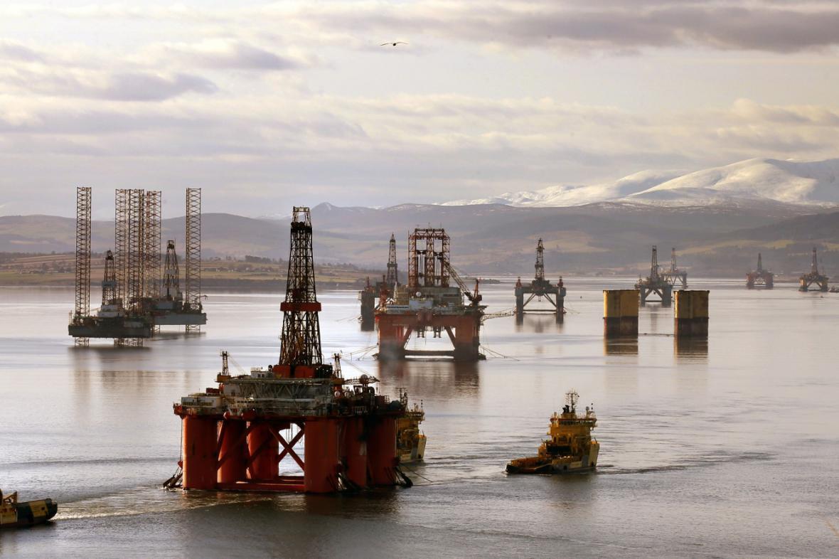 Ropné plošiny v Severním moři