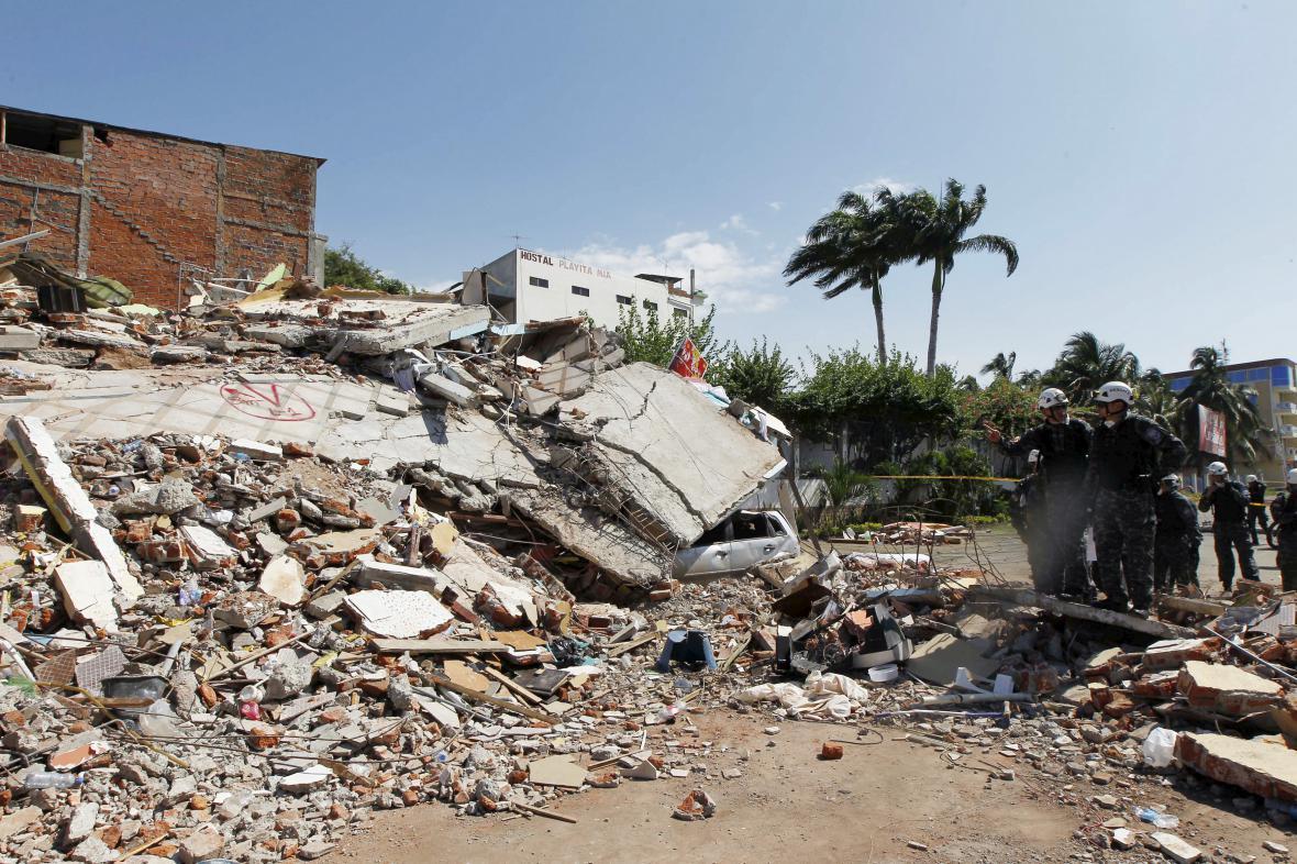 Následky zemětřesení v Ekvádoru (Manta)