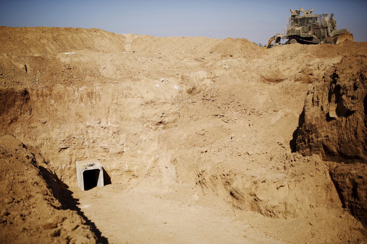 Tunel vedoucí z pásma Gazy do Izraele
