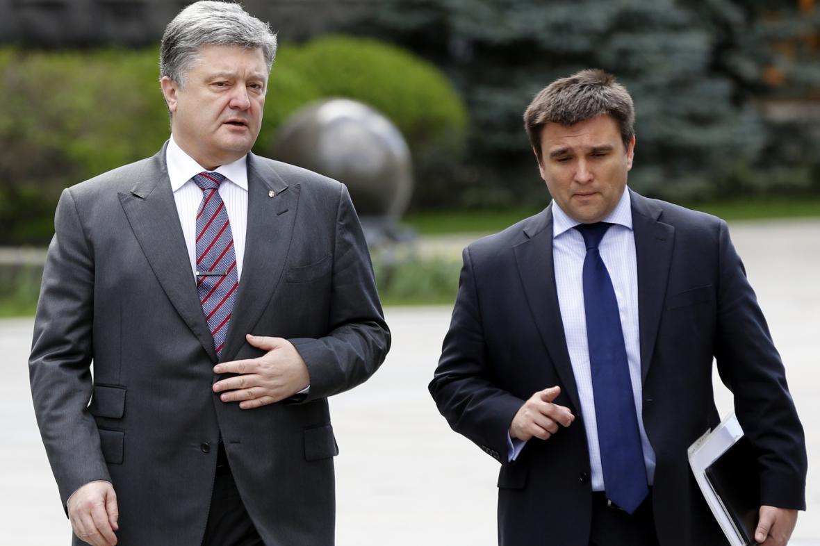 Petro Porošenko a Pavlo Klimkin