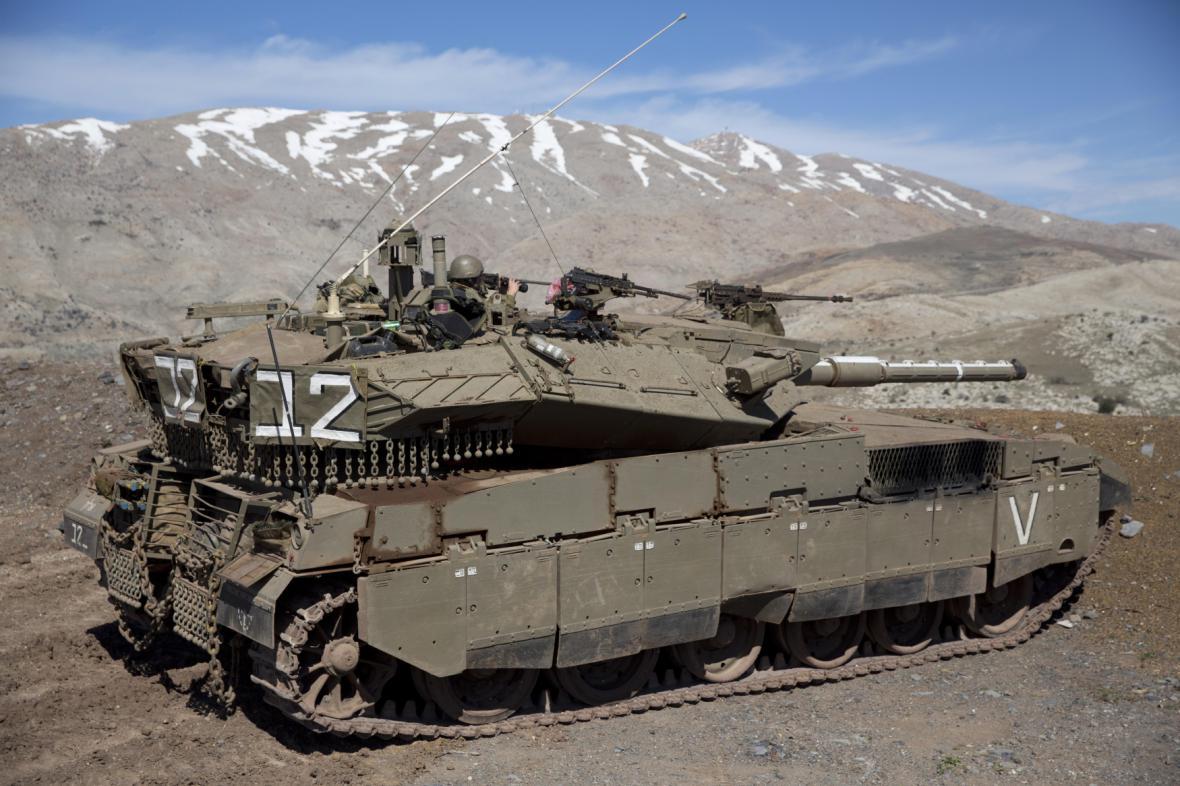 Izraelská armáda na Golanských výšinách