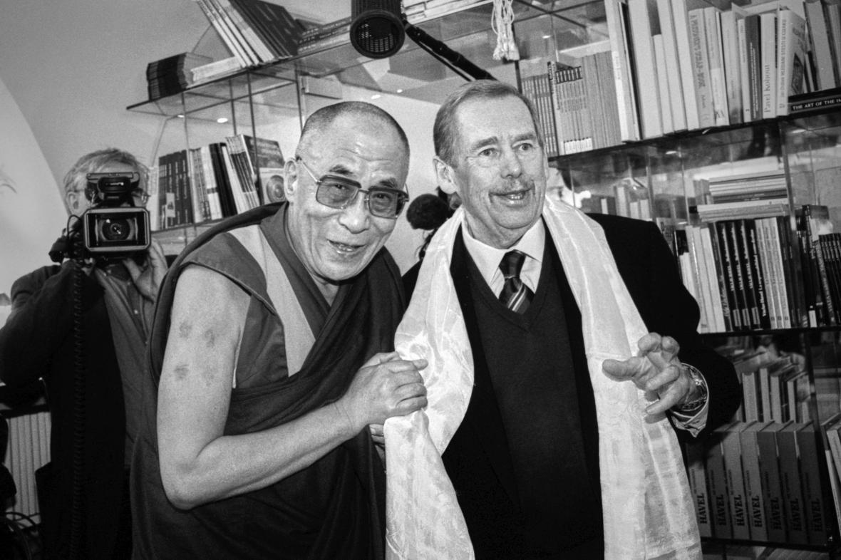 Václava Havel a dalajlama
