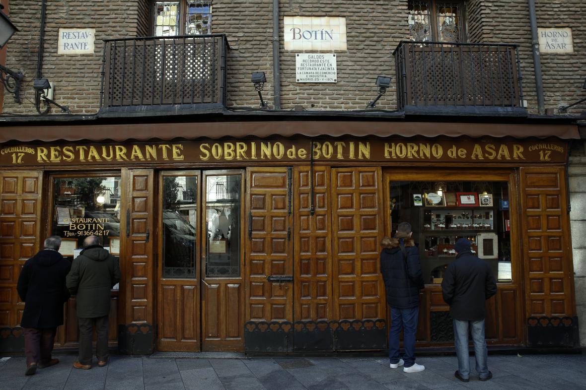 Nejstarší restaurace světa v Madridu