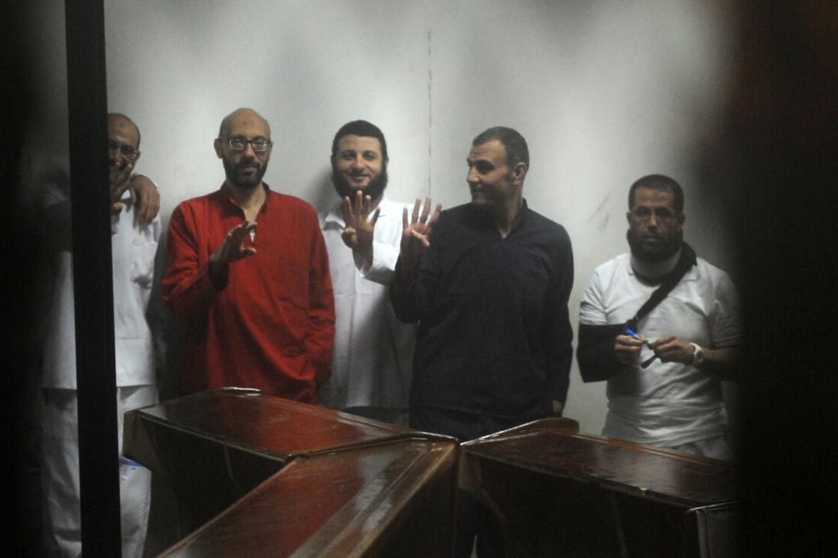 Proces s obžalovanými v Káhiře