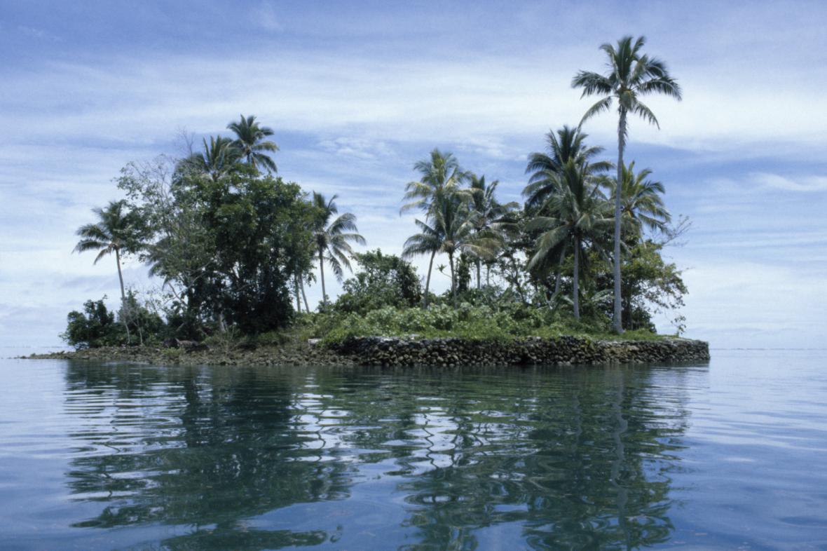 Jeden z ostrůvků, který je součástí Šalamounových ostrovů