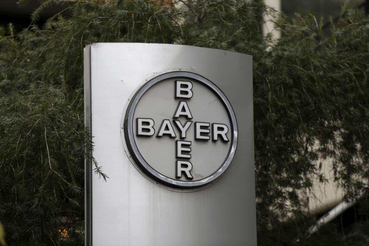 Logo firmy Bayer v Caracasu