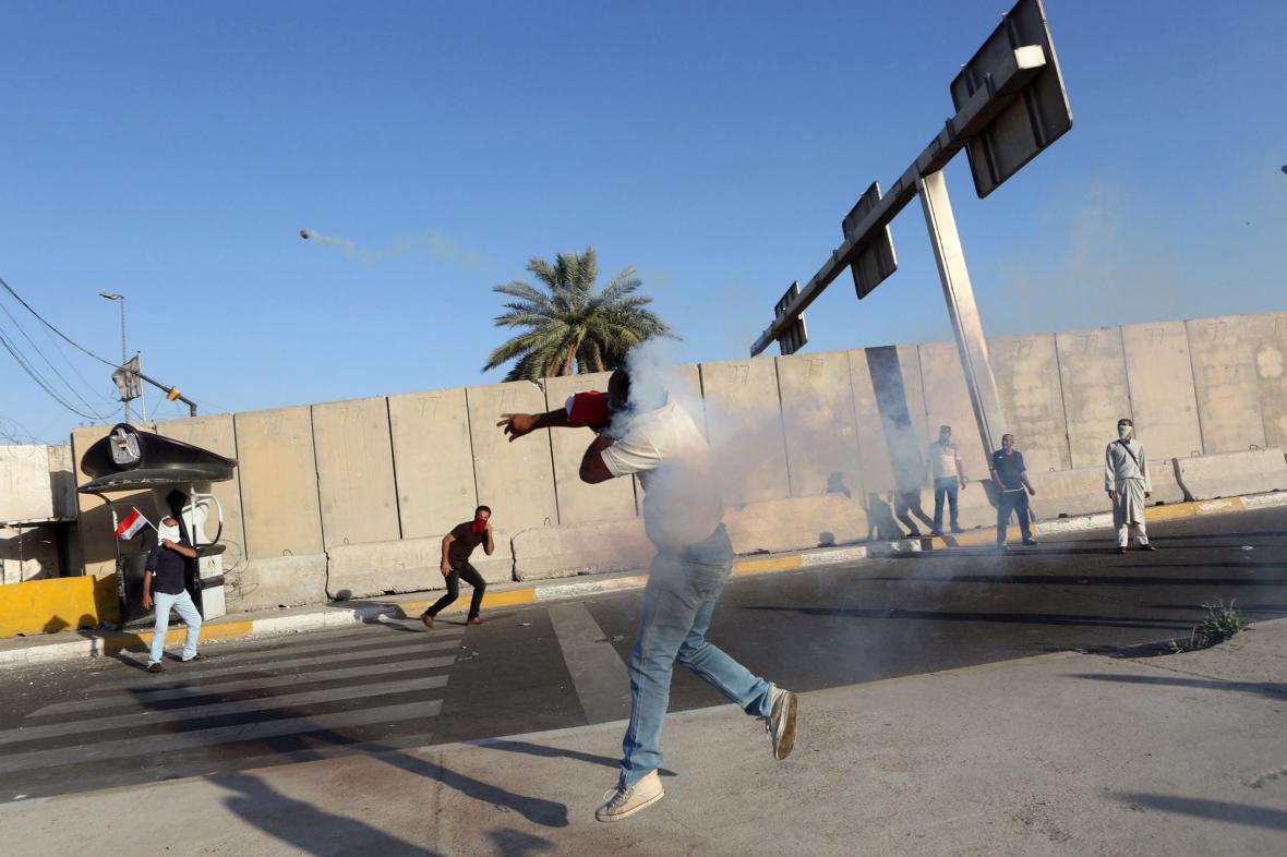 Protesty v Bagdádu