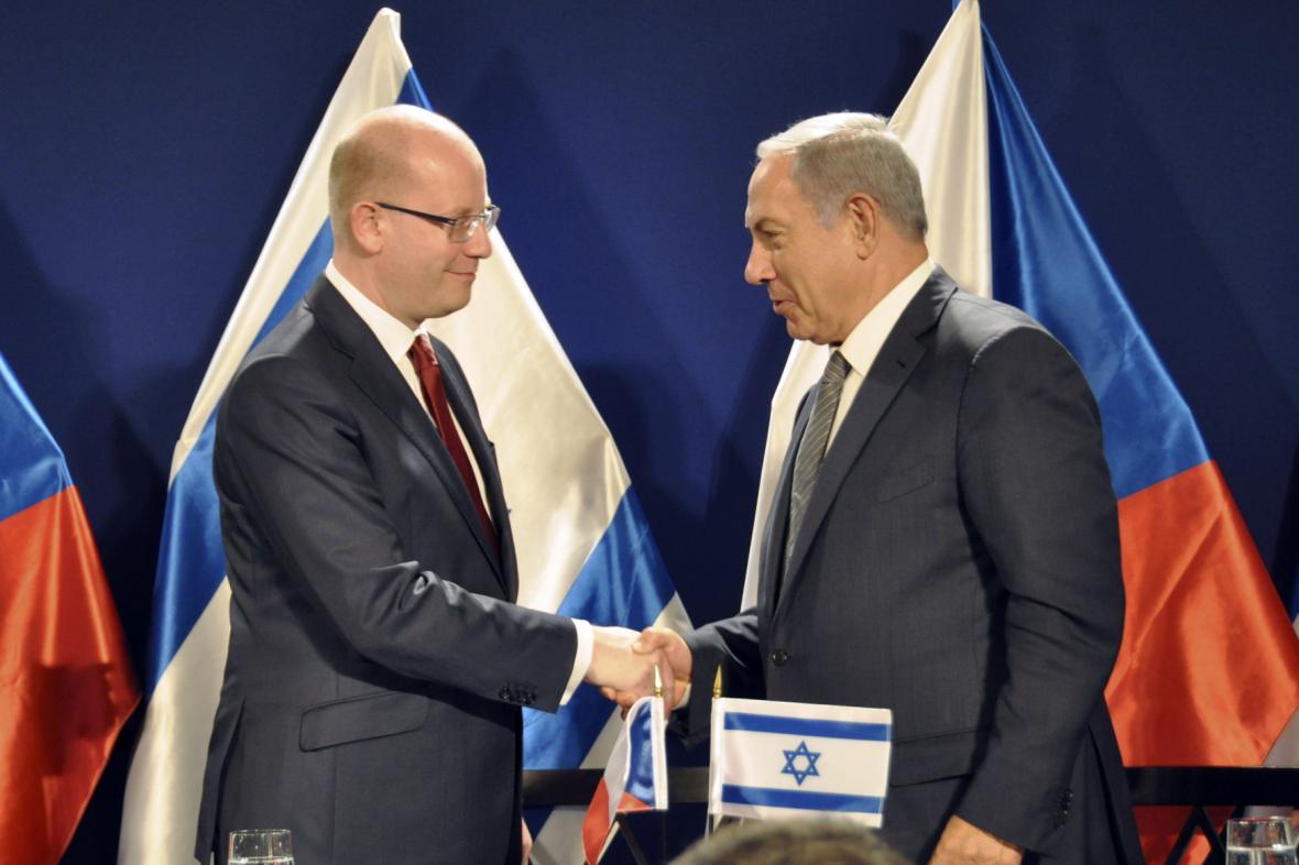 Bohuslav Sobotka a Benjamin Netanjahu