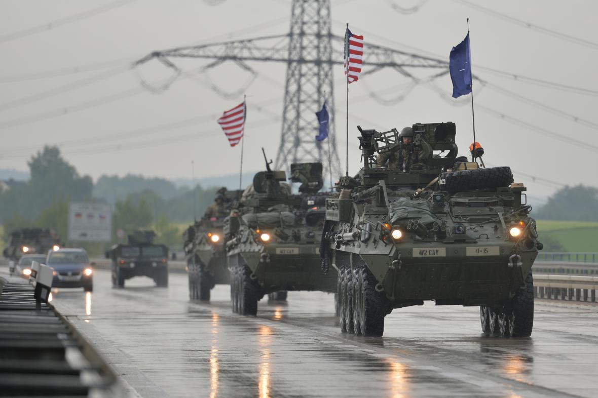 Americký konvoj přijel do Česka