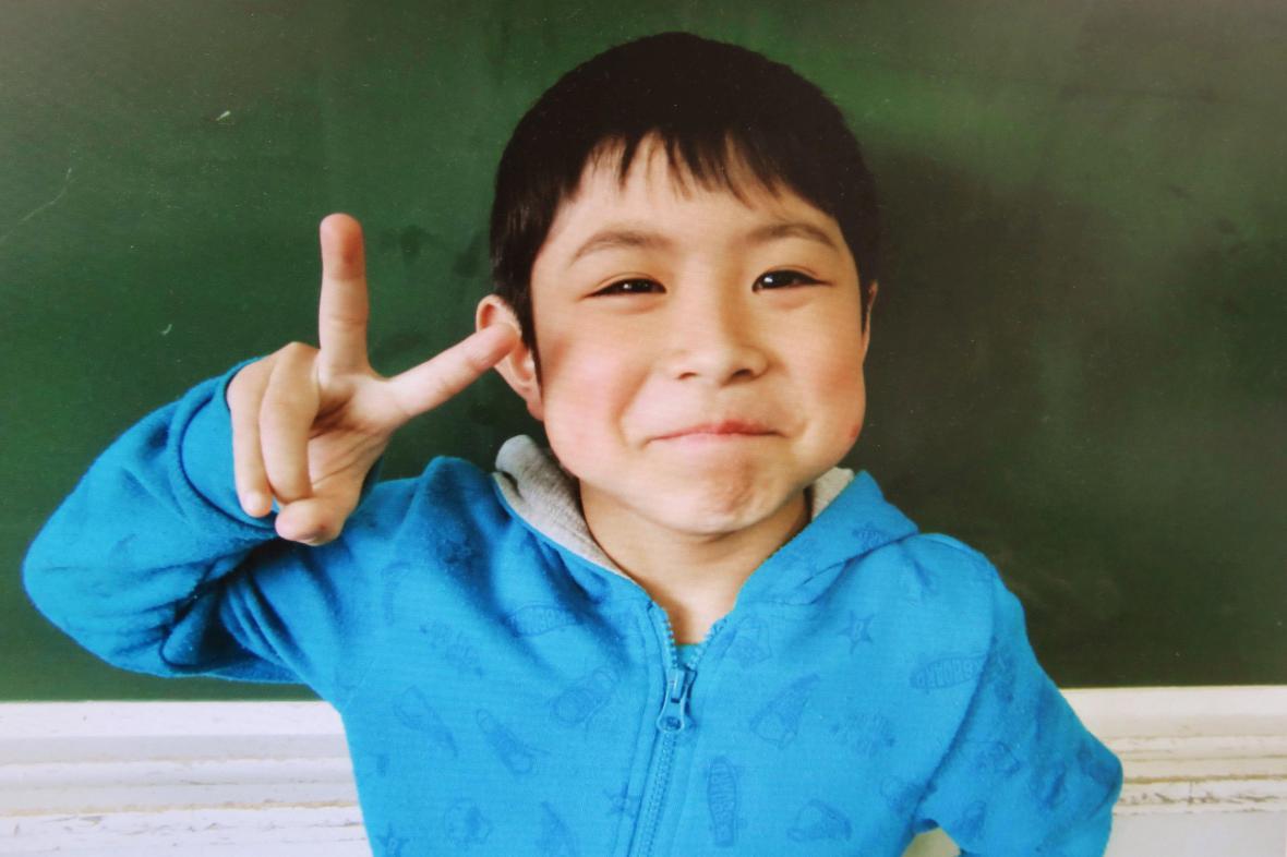 Nalezený sedmiletý Japonec