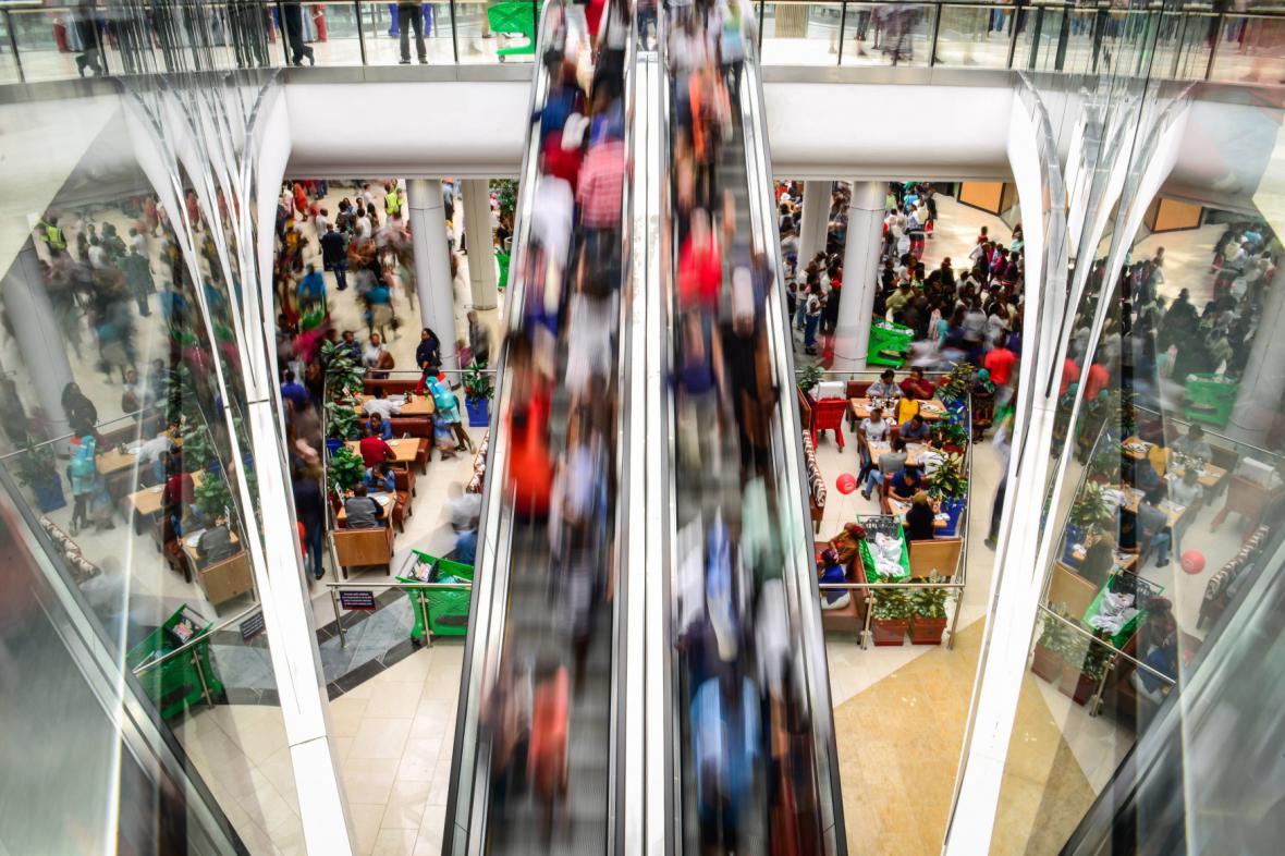 Největší obchodní centrum v JAR ve městě Midrand poblíž Johannesburgu