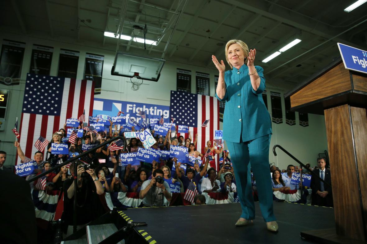 Hillary Clintonová v Kalifornii