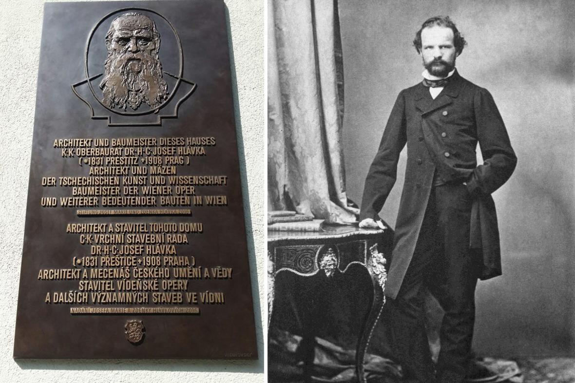 Pamětní deska Josefa Hlávky ve Vídni