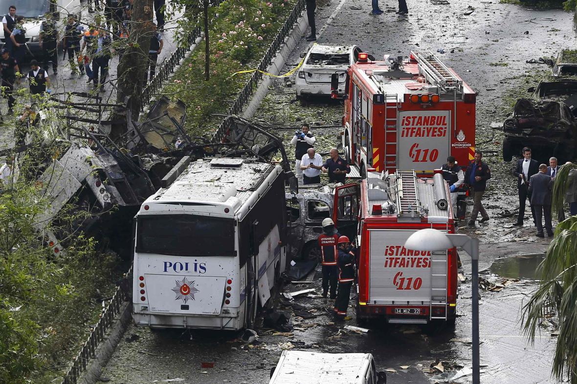 Výbuch v centru Istanbulu
